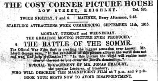 Somme film advert Keighley