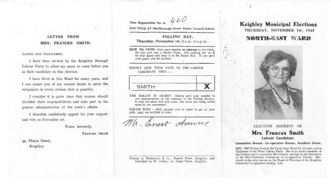 elect leaflet campaign nov 1945