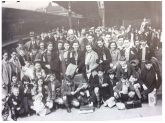 Basque refugees at Keighley Station