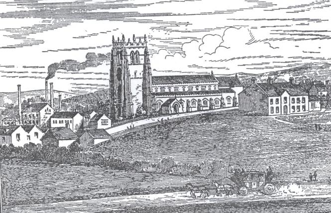 Parish Church and Vicarage 1810