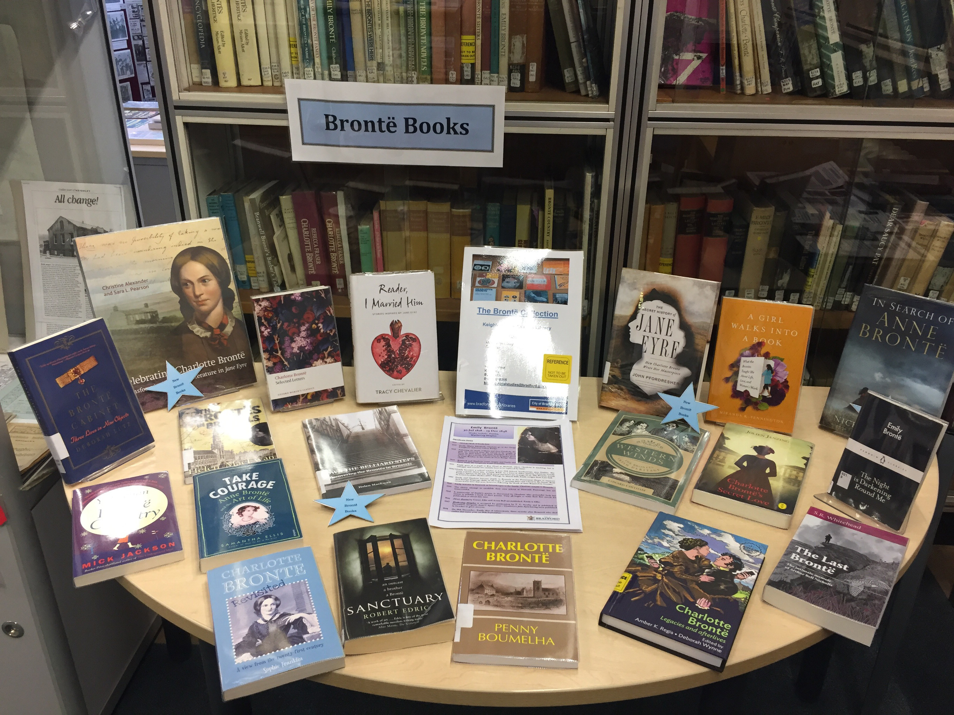 Selection of Bronte books inKeighley Local Studies Library