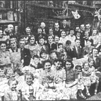 VE Day Back Rupert St. Keighley