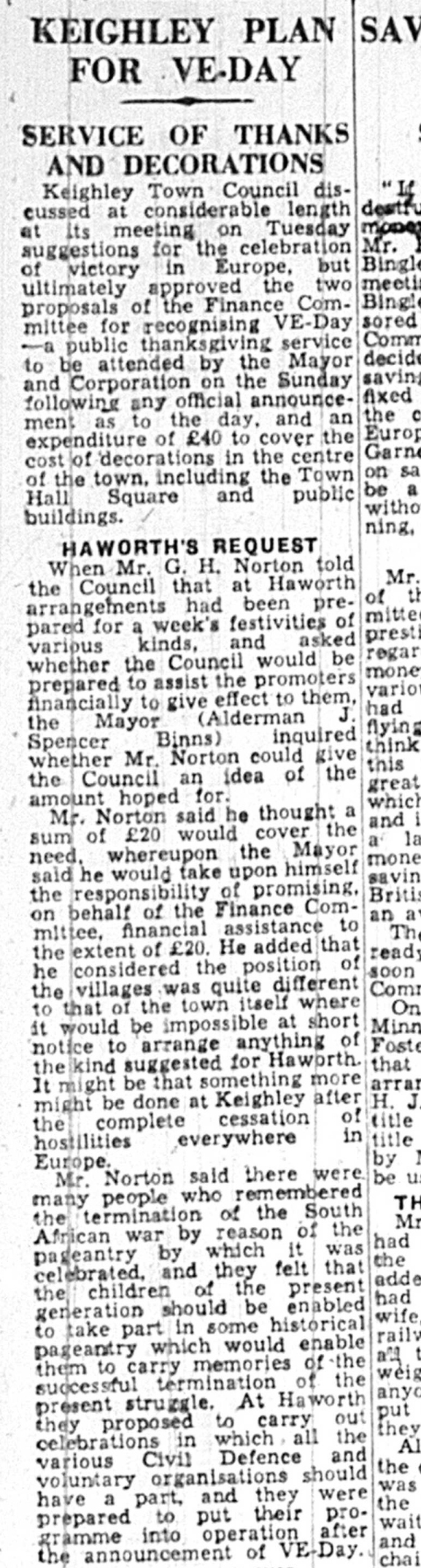 Kly News 05 May 1945 service of thanks and decorations shortened version
